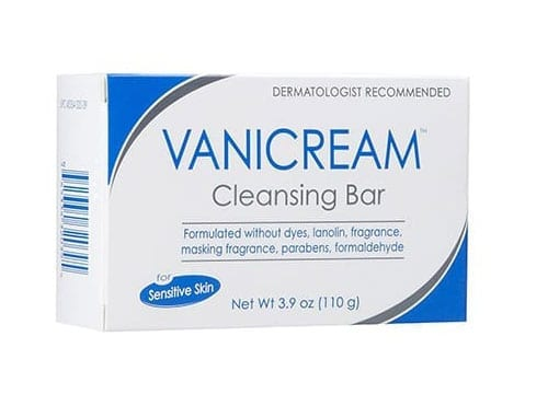 vanicream cleansing bar for dry skin products from view