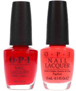 OPI Live Love Carnaval 0.5 oz. and OPI Big Apple Red  0.5 oz. Red Combo Set