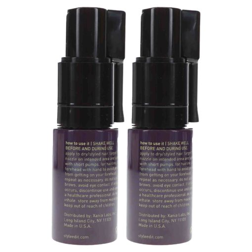 Style Edit Fill FX Instant Hair Building Fibers Spray Light Brown 0.46 oz 2 Pack