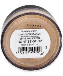 bareMinerals Matte Foundation Broad Spectrum SPF 15 Light Beige 09 0.21 oz