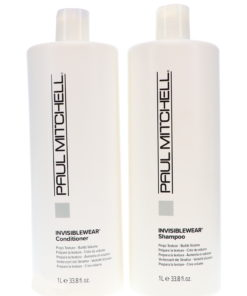 Paul Mitchell Invisiblewear Shampoo 33.8 oz and Invisiblewear Conditioner 33.8 oz Combo Pack