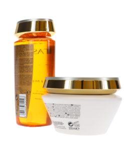 Kerastase Elixir Ultime Sublimating Oil Infused Shampoo Le Bain 8.5 oz & Elixir Ultime Mask 6.8 oz Combo Pack