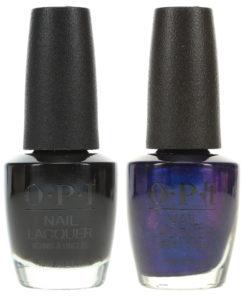 OPI Black Onyx NLT02 0.5 oz. and OPI Russian Navy NLR54 0.5 oz. Dark Combo Set