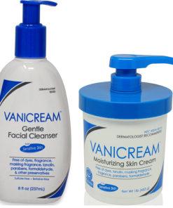 Vanicream Gentle Facial Cleanser 8 oz. & Skin Cream 16 oz. Combo Pack