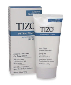 TiZO Zinc Body and Face Sunscreen SPF 40 Non-Tinted with Antioxidants C & E 3.5 Oz