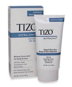 Tizo Age Defying Fusion tinted Ultra Zinc Body & Face Sunscreen SPF 40 3.5 Oz