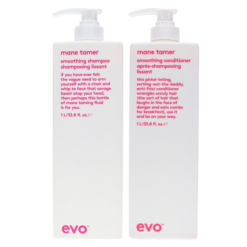 EVO Mane Tamer Smoothing Shampoo & Conditioner 33.8 Oz