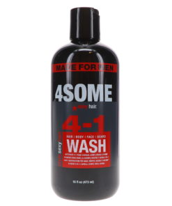Sexy Hair Style 4some 4-in-1 Hair, Body, Face & Beard Wash, 16 oz.