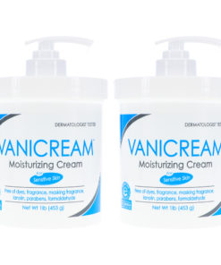 Vanicream Moisturizing Skin Cream with Pump Dispenser 1 Pound (Pack of 2)
