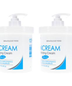 Vanicream Moisturizing Skin Cream with Pump Dispenser 1 Pound (Pack of 2)