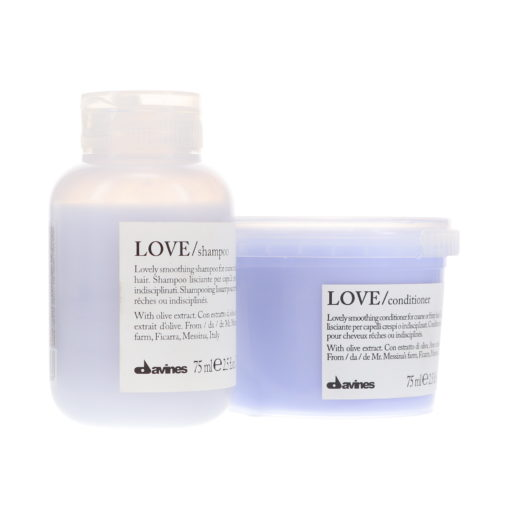 Davines LOVE Smoothing Shampoo 2.5 oz & LOVE Smoothing Conditioner 2.5 oz Combo Pack