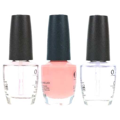 OPI Passion .5 oz, Top Coat .5 oz & Natural Nail Base Coat .5 oz Combo Pack