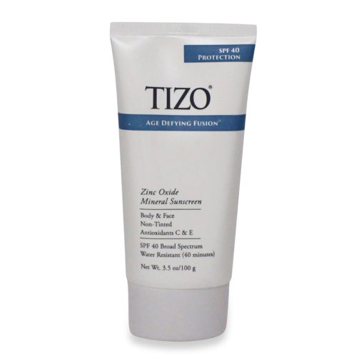 TiZO Zinc Body and Face Sunscreen SPF 40 Non-Tinted with Antioxidants C & E 3.5 Oz