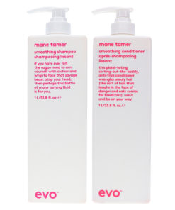 EVO Mane Tamer Smoothing Shampoo & Conditioner 33.8 Oz