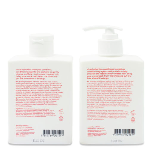 EVO Ritual Salvation Repairing Shampoo & Conditioner 10.14 Oz Combo Pack