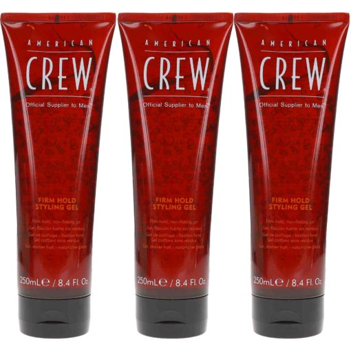 American Crew Firm Hold Styling Gel (Tube) 8.4 Oz- 3 Pack