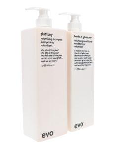 EVO Gluttonty Volume Shampoo & Bride Of Gluttony Conditioner 33.8 Oz Combo Pack