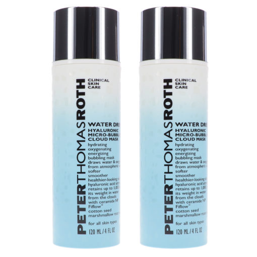 Peter Thomas Roth Water Drench Hyaluronic Micro-Bubbling Cloud Mask 4 oz 2 Pack