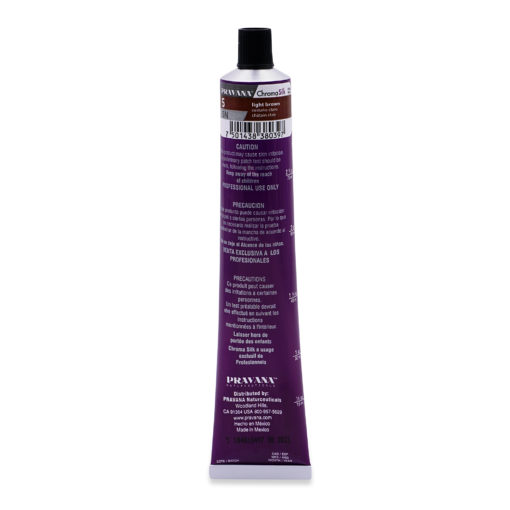Pravana ChromaSilk Creme Hair Color with Silk & Keratin Protein 5 Light Brown
