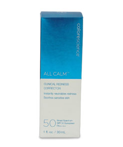 Colorescience All Calm Clinical Redness Corrector SPF 50 Broad Spectrum 1 oz.