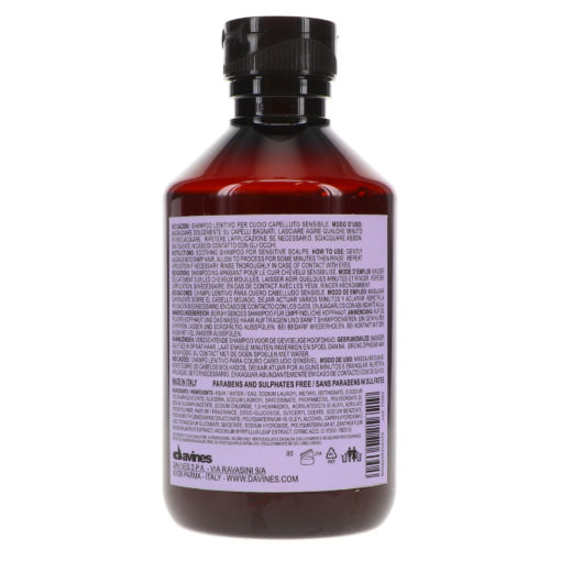 Davines Calming Shampoo 8.5 oz.