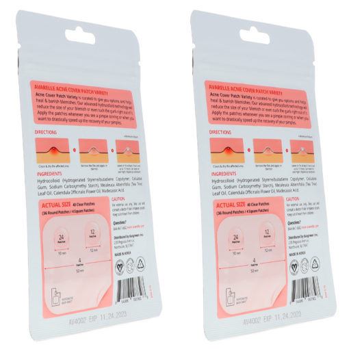 Avarelle Acne Cover Patch Variety 40 ct 2 Pack