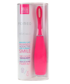 FOREO Issa Mini 2 Rechargeable Kids Electric Sensitive Toothbrush for Complete Oral Care, Wild Strawberry