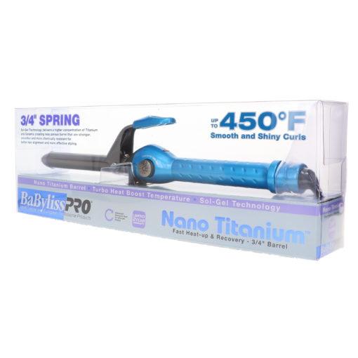 "BaBylissPRO Nano Titanium ¾"" Spring Curling Iron"