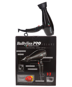 BaBylissPRO Nano Titanium Volare V1 Full-Size Dryer Ferrari-Designed Engine Black
