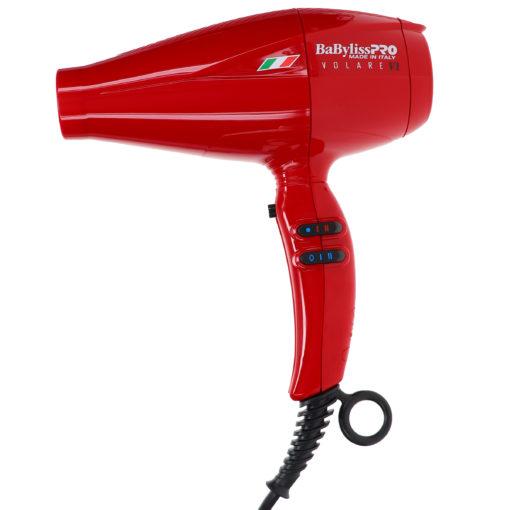 BaBylissPRO Nano Titanium Volare V1 Full-Size Dryer Ferrari-Designed Engine Red