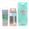 CALA Dual Action Facial Cleansing Brush Sage, Spa Solutions Gel Beads Eye Mask Aqua & Mint Blemish Rescue Soft Touch Kit 2 pc Combo Pack