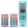 CALA Nail Clipper Duo Mint, Tweezer Duo Mint & Silky Glide Pro Callus Remover Aqua Combo Pack