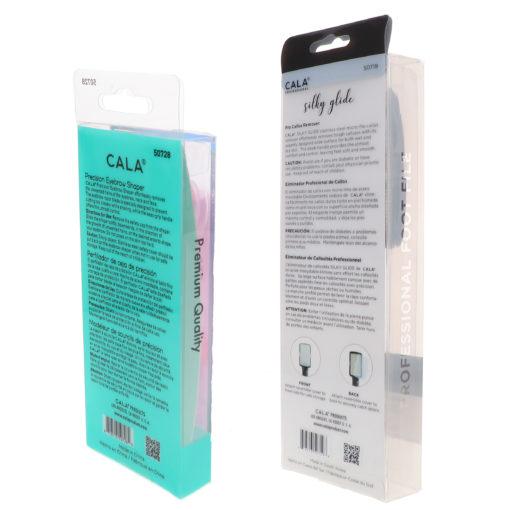 CALA Precision Eyebrow Shaper 3 pc & Silky Glide Pro Callus Remover Black Combo Pack