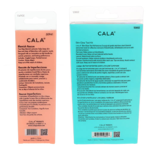 CALA Rose Gold Blemish Rescue Kit 2 pc & Skin Glow Tool Kit 3 ct Combo Pack