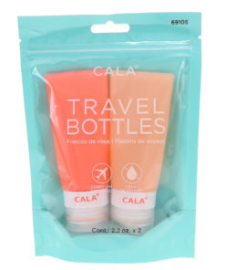 CALA Silicone Travel Bottles Coral