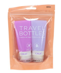 CALA Silicone Travel Bottles Lavender