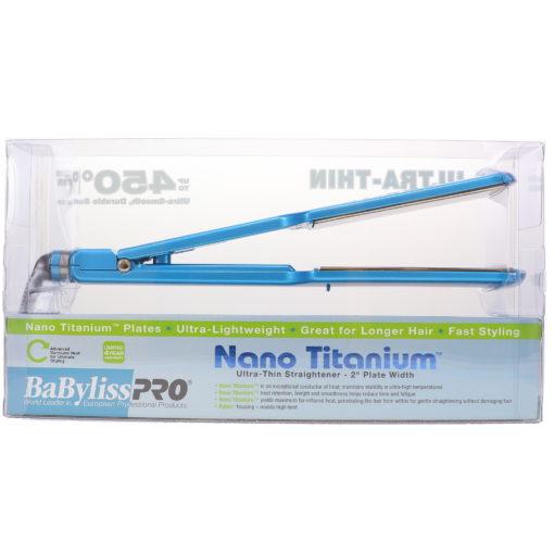 BaBylissPRO Nano Titanium Ultra-Thin Flat Iron 2 Inch