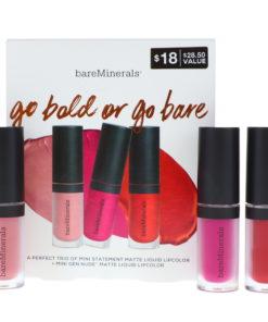 bareMinerals Go Bold of Go Bare Liquid Lipstick Set