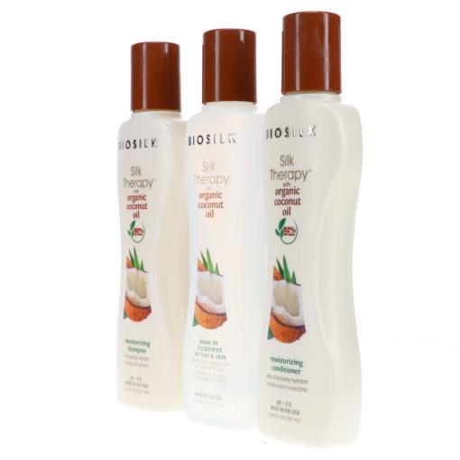 Biosilk Silk Therapy With Organic Coconut Oil Moisture Kit