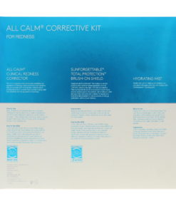 Colorescience All Calm Redness Corrective Kit Clinical Corrector Hydrating Setting 1 oz Mist and Mineral Sunscreen Brush