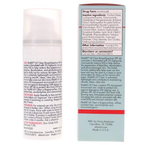 Elta MD UV Clear SPF 46 Tinted Broad Spectrum Facial Sunscreen 1.7 oz