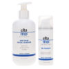 Elta MD Make Up Removal Facial Cleanser 8 oz & PM Therapy Facial Moisturizer Airless Pump 1.7 oz Combo Pack