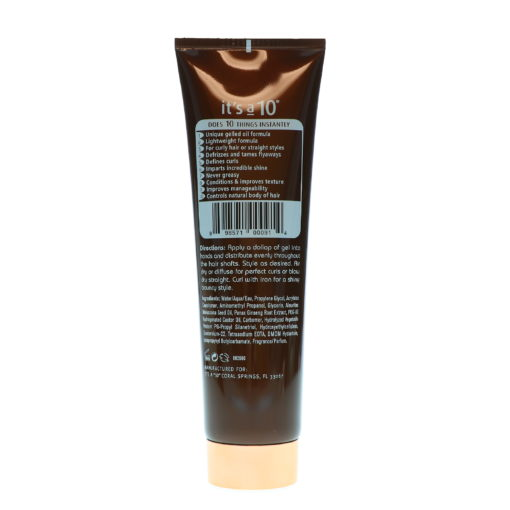 It's a 10 Miracle Defrizzing Gel 5 oz