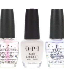 OPI Funny Bunny 0.5 oz, Top Coat 0.5 oz & Natural Nail Base Coat 0.5 oz Combo Pack