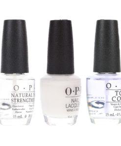 OPI Funny Bunny 0.5 oz, Top Coat 0.5 oz & Natural Nail Strengthener 0.5 oz Combo Pack
