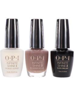 OPI Infinite Shine Berlin There Done That 0.5 oz & Base Coat Prime + Gloss Top Coat Infinite Shine Duo Set Combo Pack