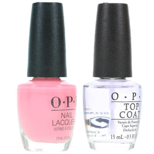 OPI It's A Girl 0.5 oz & Top Coat 0.5 oz Combo Pack