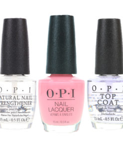 OPI It's A Girl 0.5 oz, Top Coat 0.5 oz & Natural Nail Strengthener 0.5 oz Combo Pack