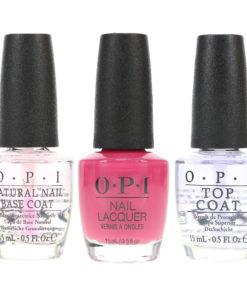 OPI Just Lanai-ing Around 0.5 oz, Top Coat 0.5 oz & Natural Nail Base Coat 0.5 oz Combo Pack