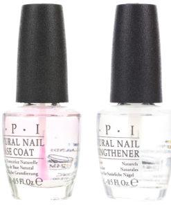 OPI Natural Nail Base Coat 0.5 oz & Natural Nail Strengthener 0.5 oz Combo Pack